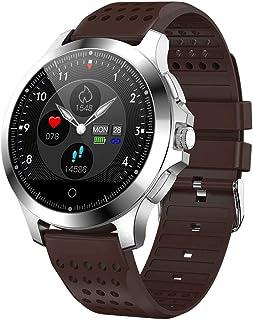 SAHWIN® Pulsera Fitness, Reloj Inteligente Impermeable IP67 con Monitor De Sueño Pulsómetro Podómetro, Caloría GPS para Deporte, Reloj Inteligente Mujer Niños,Brown TPU Strap