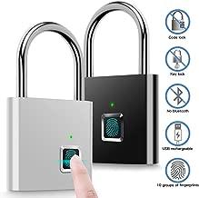 Fingerprint Padlock,AICase Electronic Door Lock Fingerprint Recognition Smart Keyless Waterproof Security Anti-Theft Padlock Widely Used