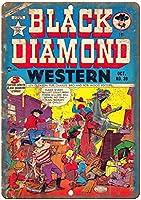 Black Diamond Western Comic ティンサイン ポスター ン サイン プレート ブリキ看板 ホーム バーために