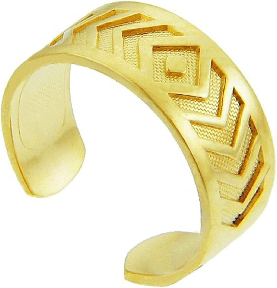 Yellow Gold Chevron Toe Ring (14K Gold)