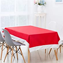 1 Pcs New Year Christmas Red Rectangular Tablecloth Xmas Ornaments Party Cover Kitchen Dining Table Home Decoration 130X180Cm