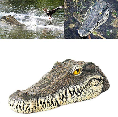 Peedeu 13-Inch Floating Alligator Decoy,Alligator Head Floating Decoy for Pool, Pond, Garden and Patio