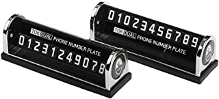Tok! Dual Mobile Phone Number Plate, Cell Phone Number Plate for Automotive Accessories