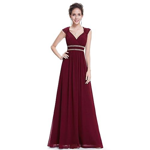 d87958f89501d Burgundy Prom Dress: Amazon.co.uk