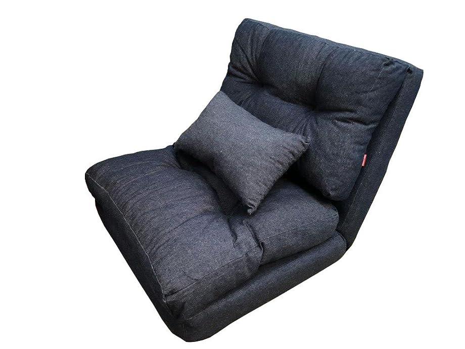 対応女将荒涼としたデニム調3WAYソファベッド枕付き1P SGS-29DDM