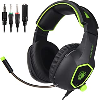SADES Gaming Headset, SA818 Stereo Gaming Headphones 3.5mm wired Over-ear Noise-reduction Microphone For PS4/Xbox One/PC/L...