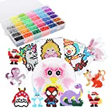 Ollieroo 9000 pcs 5mm Perler Beads Kit with Pegboards 36 Colors Fuse Beads