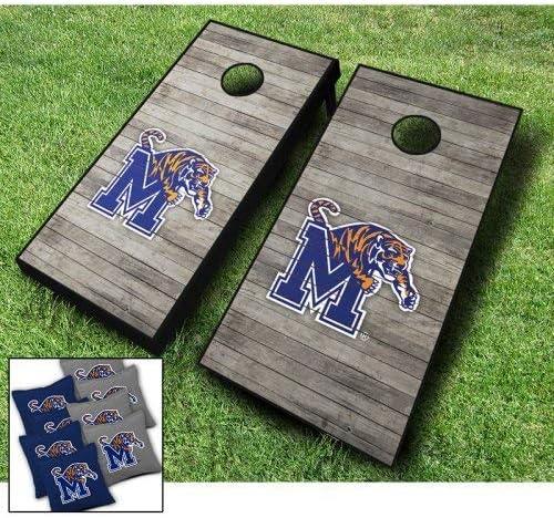 Memphis Tigers Distressed Themed Cornhole Bean Wraps Board Set B Bargain Max 70% OFF