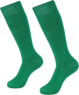 Long Tube Soccer Socks, SUTTOS Unisex Knee High Solid Sport Football Socks 2-10 Pairs
