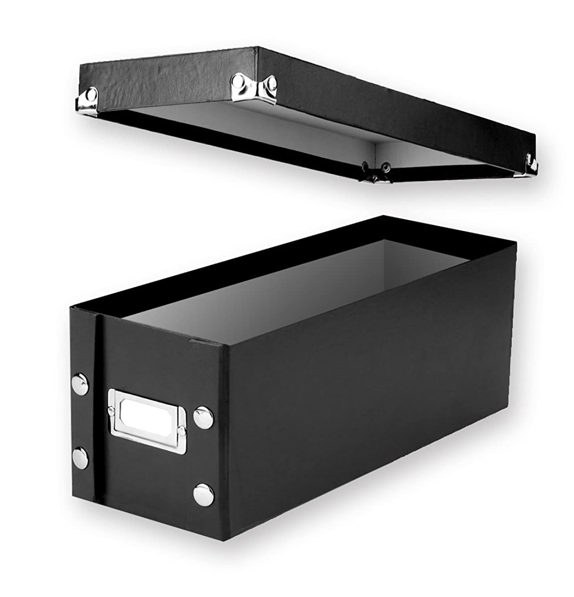 Snap-N-Store CD Storage Boxes, Set of 2 Boxes, Black (SNS01617)