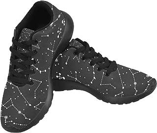 Women Lightweight Casual Sneaker Running Shoes Constellations Prints