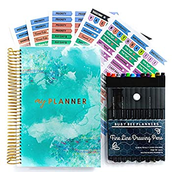 Goals & Gratitude Planner with Pens Stickers and Sticker Tabs  Undated  - Busy Bee Planners…