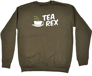 123t Funny Novelty Funny Sweatshirt - T Rex Cup Dinosaur - Sweater Jumper