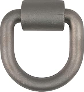 CURT 83760 4-1/4-Inch x 4-1/2-Inch Weld-On D-Ring Tie Down Anchor, 3/4-Inch Diameter Ring, 26,500 lbs. Break Strength