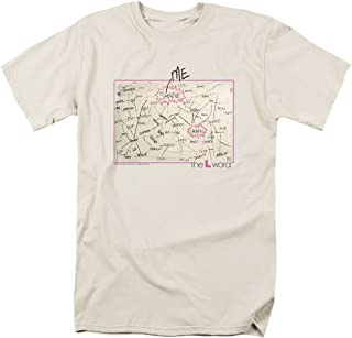 La l Palabra gráfico Camiseta de Manga Corta para Hombre