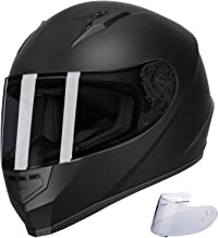 GLX Unisex-Adult GX11 Compact Lightweight Full Face Motorcycle Street Bike Helmet with Extra Tinted Visor DOT Approved (Ma...