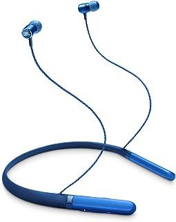 سماعة راس لاسلكية بطوق للرقبة داخل الاذن من جيه بي ال، موديل LIVE200BT لون ازرق