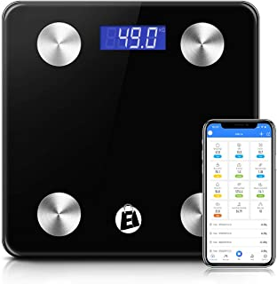 Elegant Shopping eStore Electronic Digital Bathroom Body Fat Scale Bluetooth 180KG BMI with 12 health measurements