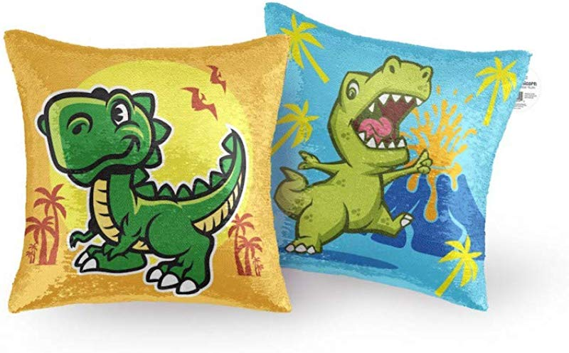 Master Toys Reversible Sequin Pillow Dinosaur