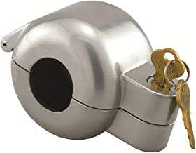 Prime-Line S 4180 Door Knob Lock-Out Device – Prevents Turning of Door Knob and Access to Keyhole, Can be Used for Home Rentals, Evictions, Job Sites and More – Keyed Alike, Gray Diecast