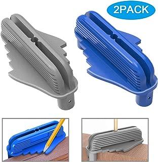 2 Pack Center Offset Marking Tool, Wood Centerline Scriber Finder Woodworking Fits Standard Wooden Pencils