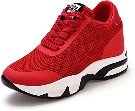 low priced 19d1a c2af1 AONEGOLD Baskets Compensées Femmes Chaussure de Sport Running Gym Fitness  Tennis Sneakers Basses Compensées 8 cm