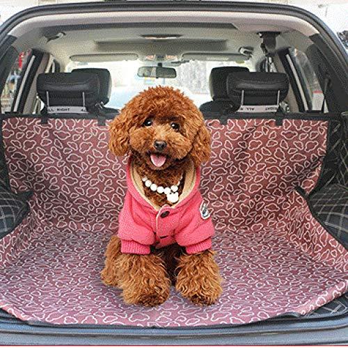 Ghongrm Perro Trixie Patrón de Nube Marrón Perro Parte Trasera Coche Viaje para SUV CR-V y La Mayoría de Los Autos
