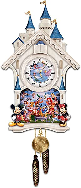 Bradford Exchange Disney Character Cuckoo Clock Happiest Of Times By The