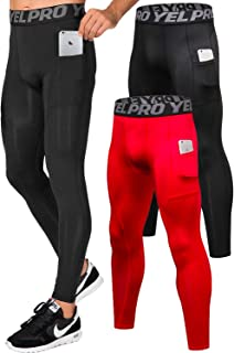 Lavento Men's Compression Pants Running Tights Leggings...
