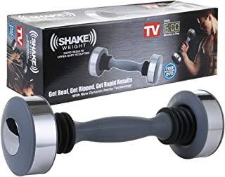 Comfecto Shake Weight for Men Women, 5 lbs Arm Firming Muscle Toning Dumbbell for Weight Loss Arms Shoulder Chest Exercise with New Dynamic Inertia Technology, Bonus Workout DVD Included