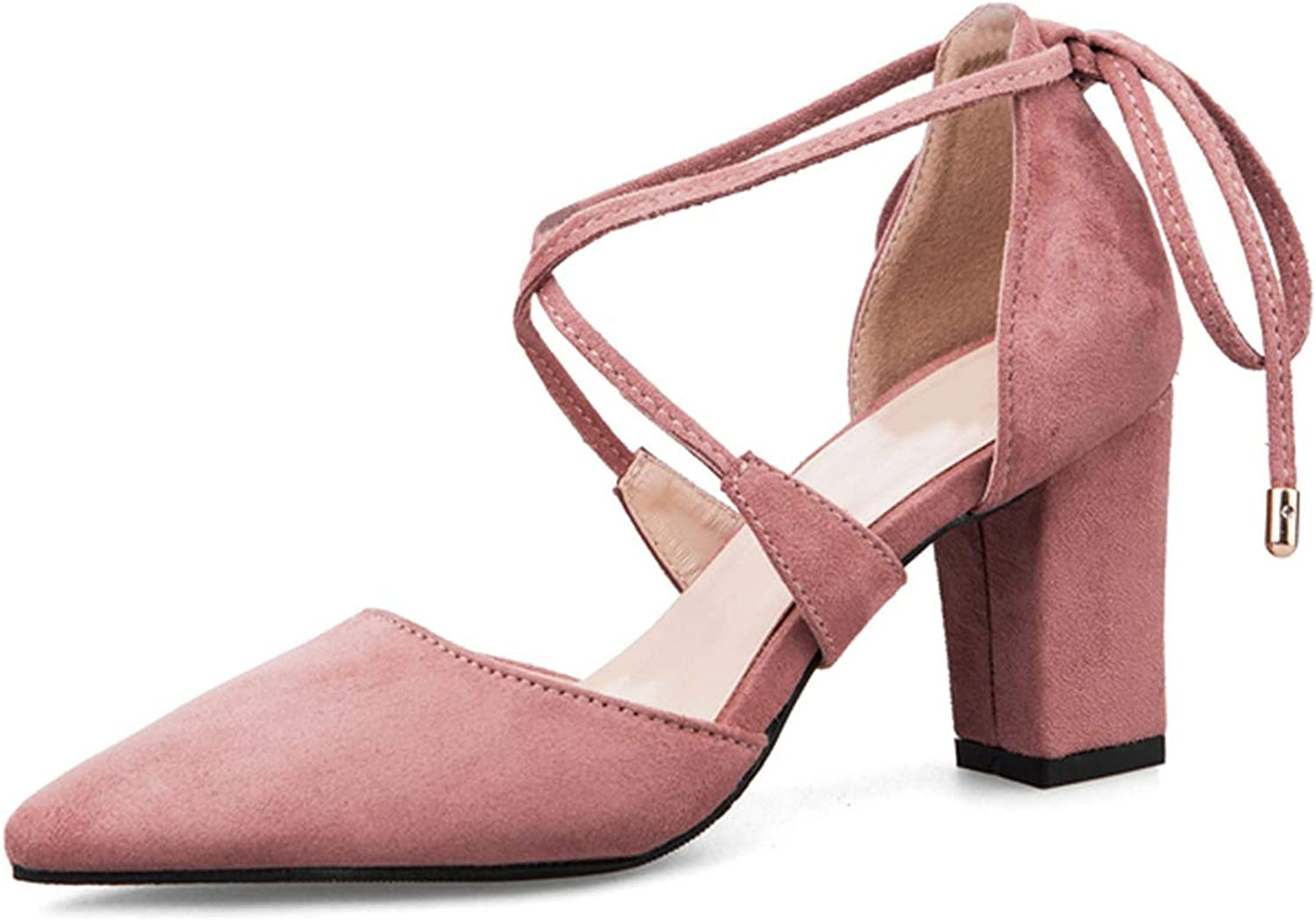 Sexy High Heels Women's shoes Sandals Suede Leather Pointed Toe Heels Women Party shoes,Pink,36