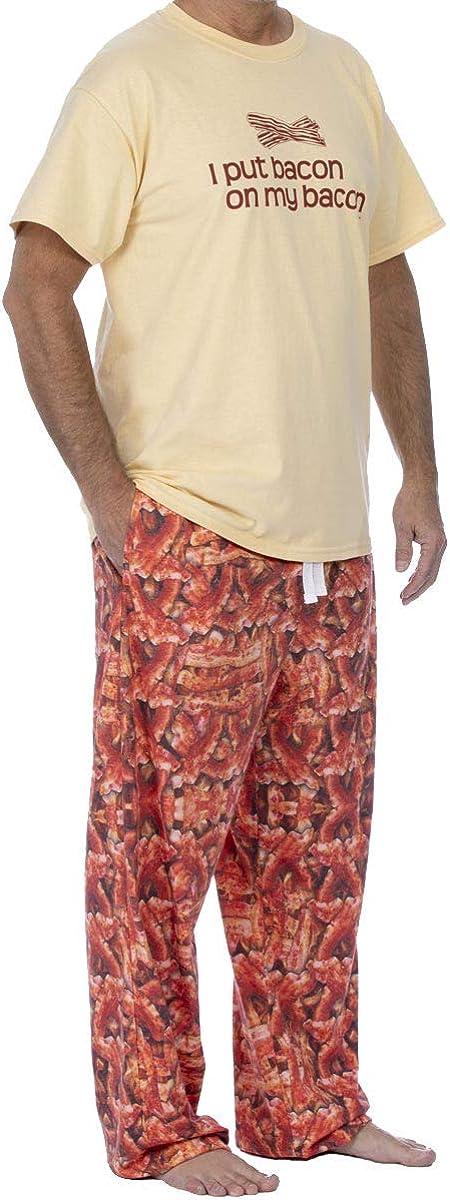 ComputerGear Mens Pajama Set Selling Short Sleeve Side with PJ Pants Top half