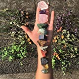 12 PCs Chakra Stone Healing Crystal Stone Kit Rough Gemstones Raw Healing Stones Set for Yoga, Meditation, Zen, Aura Cleansing