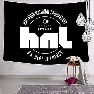 SHDU Stranger Things Hawkins HNL White Logo Tapestry Wall Hanging Bedding for Living Room Bedroom Dorm Home Decor Blanket 70.9