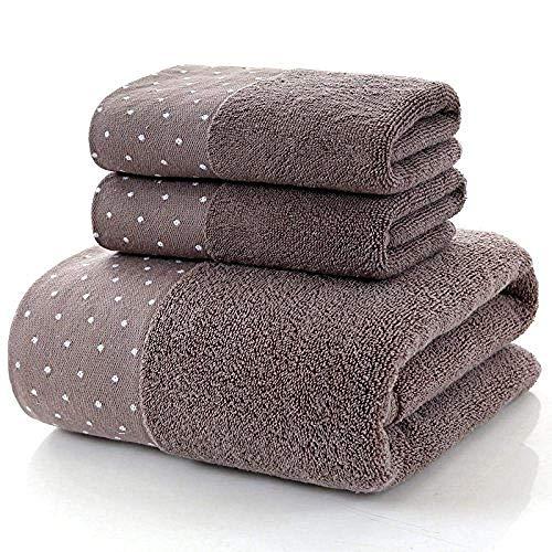 HGJINFANF Wash A Face Towel Toalla de baño absorbente de algodón, no puede dejar caer la palabra 70 x 140/marrón