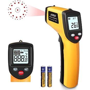 Display LCD senza contatto Termometro digitale a infrarossi Laser Sensore di temperatura Termometro Sensore Punto pistola con funzione Data Hold Colore: arancione
