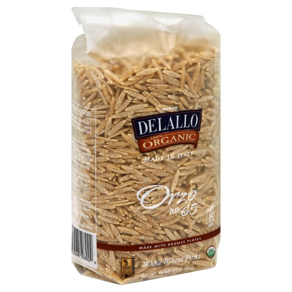 Delallo Manufacturer New life direct delivery Pasta Whlwht Orzo Org