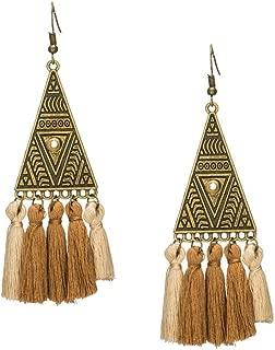 Earrings Bohemian bead rhinestone shell flower sequins dream catcher earring Ethnic boho dangle drop earings