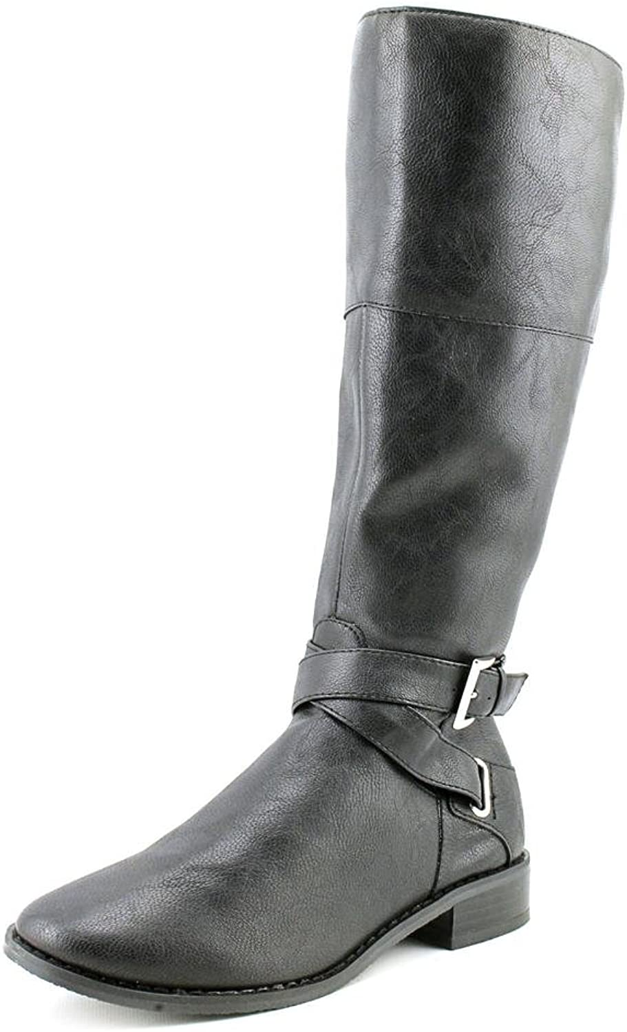Karen Scott Paige Knee High Tall Riding Boot shoes Synthetic Black Size 10
