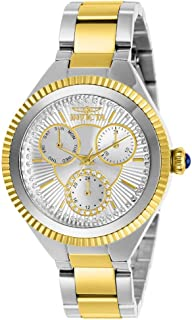 Invicta Women's Angel Quartz Watch with Stainless Steel Strap, Two Tone, 16 (Model: 28350)