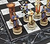 HPL Medieval Times Crusades King Richard Christian Knights Chess Set with 17' Maltese Board