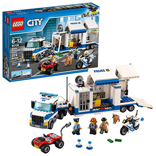 LEGO City Police Mobile Command Center Truck 60139 Building Toy, Action Cop Motorbike and ATV Play...