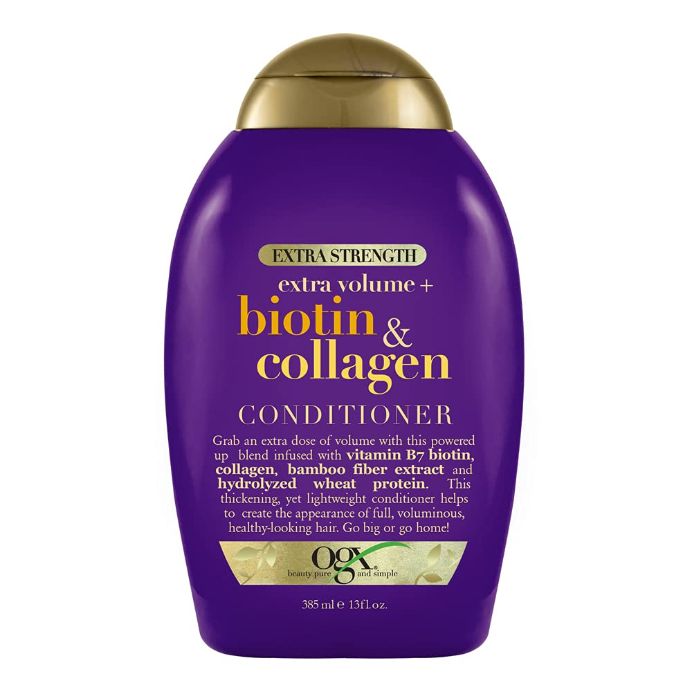 OGX All items free shipping Thick Full + Biotin Collagen Extra Strength C Outlet sale feature Volumizing