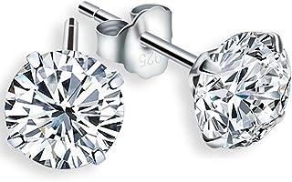 LDUDU® Pendiente Plata de ley 925 Semental Unisex de Cristal Swaroski/Circonita diseño sencillo para hombre mujer regalo d...