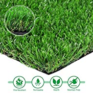 Artificial Grass 12in x 16in Synthetic Turf Lawn Fake Grass Indoor Outdoor Landscape Pet Dog Area
