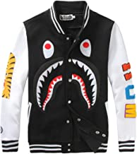 Fashion Hoodie A Bathing ape Bathing Shark Head Jaw Sweatshirt Baseball bape Sweater Outdoor Hip-Hop Coats Jackets