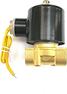 3/8 Solenoid Valve 110v/115v/120v DC Brass Electric Air Water Gas Diesel Normally Closed NPT