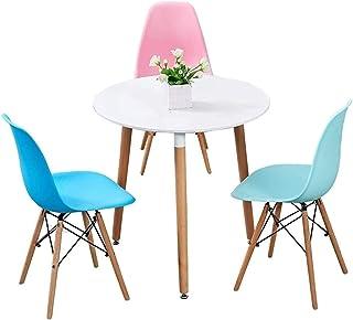 Mesa de comedor Juego de muebles Cjiaxin Mesa de comedor Silla de combinación simple mesa redonda de madera moderno diseño de tabla y Juego de sillas de estar Cocina Tabla Ocio La negociación de negoc