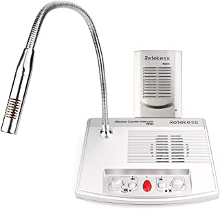 Retekess TW101 Window Speaker System Window Microphone and Speaker Bank Intercom for Glass Intercom System for Business 2 Way Drive Thru Speaker