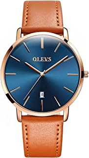 OLEVS Couples Watches for Men and Women Ultra Thin Quartz AnalogWrist Watches Casual Stainless Steel His and Hers